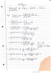 Resolução de integrais contendo trinomio quadrado