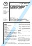 NBR 06157   1980   Materiais Metálicos   Determinação da Resistência ao Impacto em Corpos de Prova Entalhados Simplesmente Apoiados