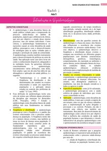 resumo de introdução a epidemiologia
