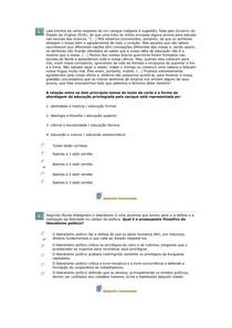 Avaliando aprendizado FILOSOFIA DA ED BRASILEIRA aula 04 - Fil