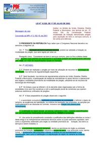 LEI No 10.520  DE 17 DE JULHO DE 2002.