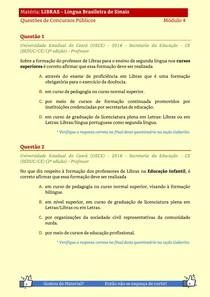 LIBRAS - Questões de Concursos Publicos - Modulo 5