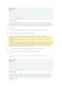 Ecologia geral Exercício de Fixação 1 E2