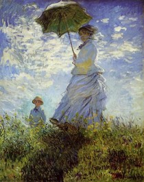 The Walk Woman with a Parasol - Claude Monet