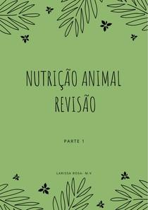 Nutrição Animal Revisão Parte 1