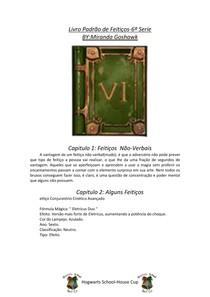 Livro Padrão de Feitiços   6º Série