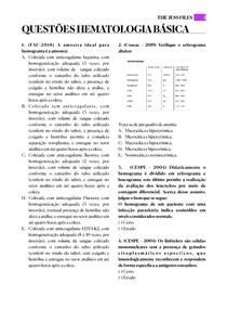 Questões Hematologia Básica - 1