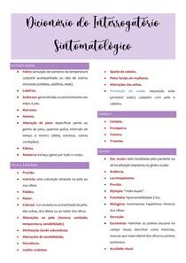 Dicionário do Interrogatório Sintomatológico