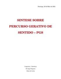 PERCURSO GERATIVO DE SENTIDO - SÍNTESE