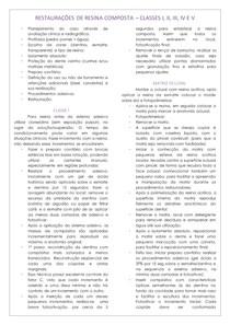 RESTAURAÇÕES DE RESINA COMPOSTA