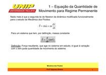 Aula 2_Equação da Quantidade de Movimento para Regime Permanente