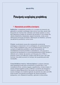 PRINCIPAIS NEOPLASIAS PROSTÁTICAS
