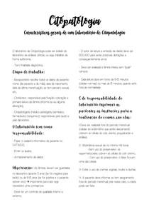 Características gerais de um laboratório de Citopatologia