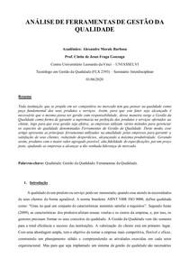 Paper - Análise de Ferramentas de Gestão da Qualidade - Alexandre Morais Barbosa