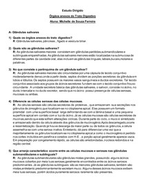 Estudo Dirigido- Glândulas Anexas (Tubo Digestivo)