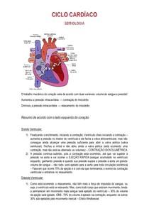 Ciclo Cardíaco - Fisiologia e Semiologia