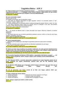 Linguística Básica AOL 3