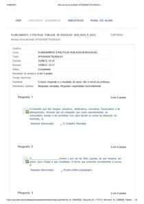ATIVIDADE TELEAULA I PLANEJ E POLIT PUBLI DE EDUC