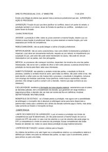 DIREITO PROCESSUAL CIVIL  2° bimestre