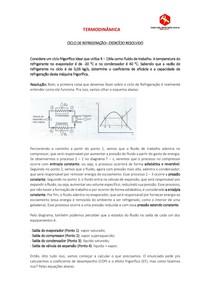 Ciclo de Refrigeração - EXERCÍCIO RESOLVIDO COM EXPLICAÇÃO