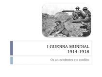 Resumo da Primeira Guerra Mundial