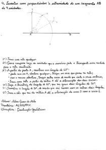 Resolução da lista da P1 de Construções Geométricas - exercício 4