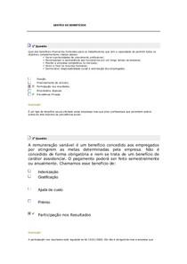 GESTÃO DE BENEFÍCIOS  aula 3