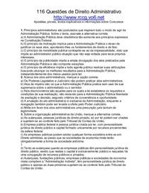 Dir Administrativo - 116 Exercicios
