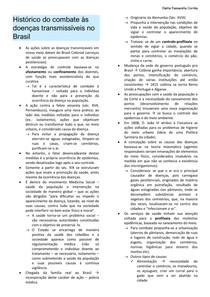 Histórico do combate as doenças transmissíveis no Brasil