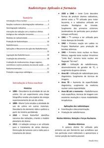 Radioisótopos/ Radiofármacos: apostila completa