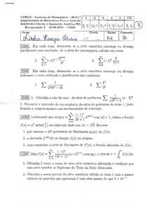 Prova 3 - Cálculo II A (recuperação)