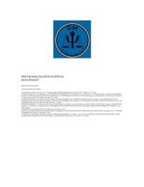 3f8da3aae6f Psicologia) - Jean Piaget - Psicologia Da Inteligencia - Psi