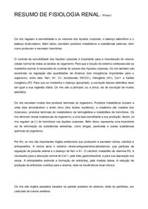 RESUMO DE FISIOLOGIA RENAL