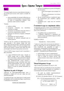 Bioquímica - ÁGUA E SISTEMA TAMPÃO