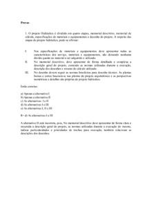 40 Questões Prova Hidrossanitária