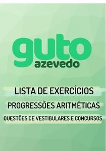 Lista de Exercícios | Progressões Aritméticas (P.A.) | Questões de vestibulares e concursos