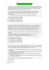 Psicologia da Educação e da Aprendizagem Avaliação II - Individual Semipresencial
