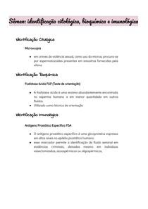 Sêmen: identificação citológica, bioquímica e imunológica