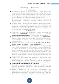 Farmacologia - Aula 10 - Autacoides