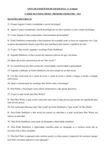 LISTA-DE-EXERCÍCIOS-DE-SOCIOLOGIA-1º-ano-para-a-2ª-av-I-trim-2013