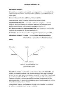 Resumo de bioquímica