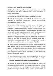 FICHAMENTO | Filosofia do Direito |Teoria da nulidade no processo penal (Rosmar Rodrigues Alencar)