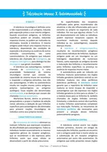TOLERÂNCIA IMUNE + AUTOIMUNIDADE