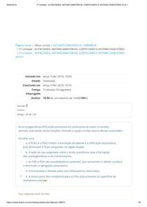 AUTACOIDES, ANTIINFLAMATÓRIOS, CORTICOIDES E SISTEMA DIGESTÓRIO