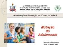Dietética e Necessidades Nutricionais de Adolescentes