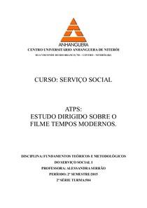 ATPS ANALISE DO FILME TEMPOS MODERNOS
