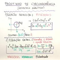 Pacotinho de Geometria Analítica Circunferência