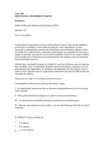 Prova objetiva de Gestão de Rh nota 100(1)