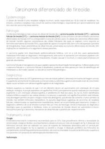 Carcinoma diferenciado de tireoide (resumo)