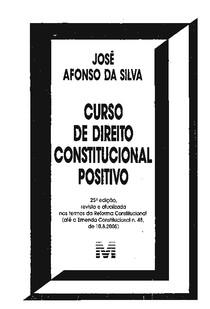José Afonso da Silva   Curso de Direito Constitucional Positivo   25ª Edição 2005